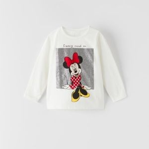 NWT 12-18 month Zara Minnie Mouse shirt